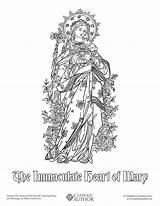 Coloring Catholic Sheets Drawing Mary Heart Drawn Immaculate Sacred Saints Hearts Catholicviral Printable Adult Drawings Holy Children Feast Sense Pdf sketch template