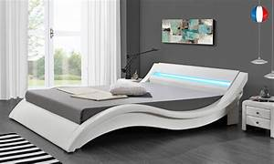 Lit Design LED Blanc Hypnia Lit Leds Avec Tlcommande