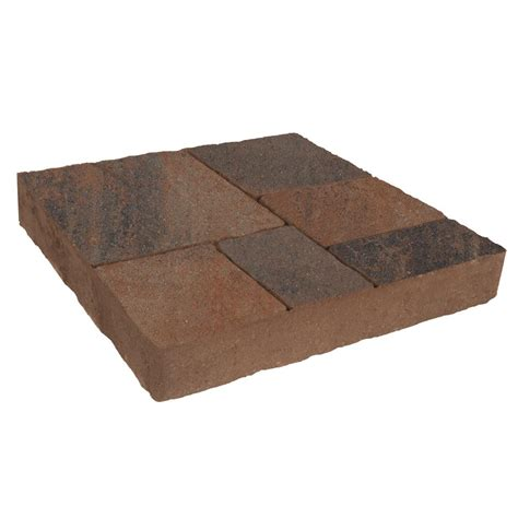 8 in x 16 in red concrete step stone 74051 the home depot