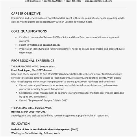 Front Desk Hotel Resume by Hotel Front Desk Resume Exles