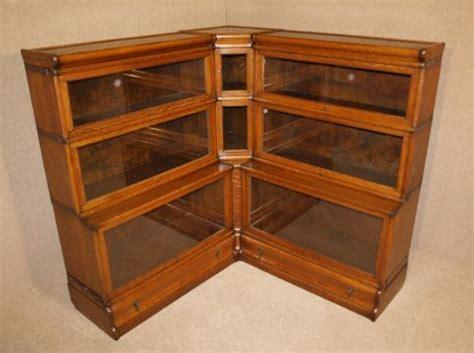 Rare Globe Wernicke Corner Bookcase