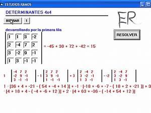 Determinante Berechnen 4x4 : software para el calculo de determinantes 4x4 youtube ~ Themetempest.com Abrechnung