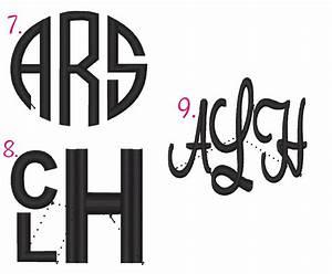 monogram font styles With single letter monogram styles