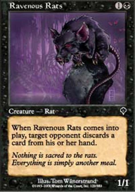 rat deck mtg tcgplayer ravenous rats magic the gathering