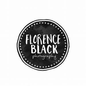 Black Circle Logo Design, Watercolor Circle, Watercolour ...