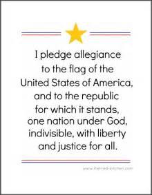 Pledge Allegiance Printable