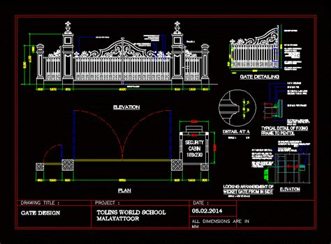 ms gate design  autocad cad   kb