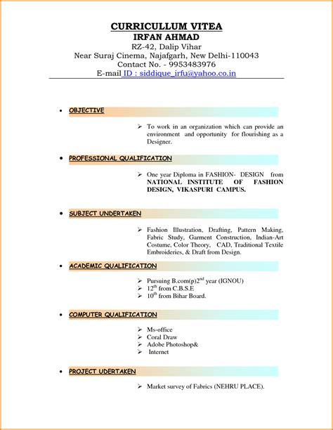 8 curriculum vitae type lettre de preavis