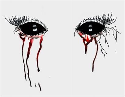 Scary Eyes Demon Blood Clipart Halloween Tears