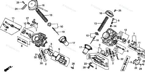 Honda Motorcycle Oem Parts Diagram For Carburetor