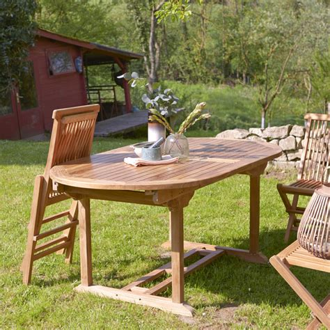 tikamoon capri teak outdoor table