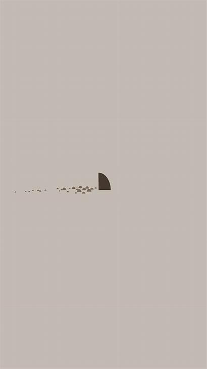 Simple Minimal Shark Sea Iphone Illust An33
