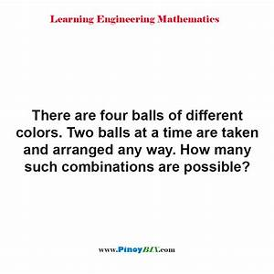 Solution  How Many Such Combinations Are Possible
