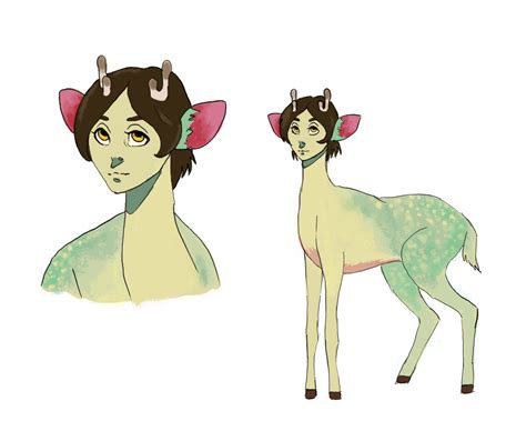 Deer With A Human Head, Endless Forest Style By