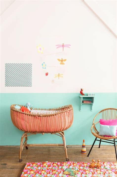 chambre bébé sous pente nos astuces en photos pour peindre une pièce en deux