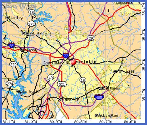 charlotte map toursmapscom