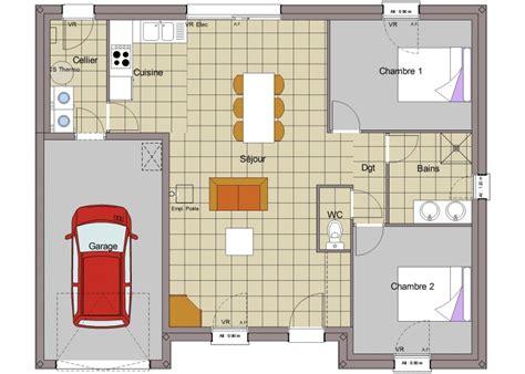 plan maison plain pied 3 chambre maison plain pied tradi 2
