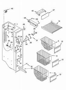 Freezer Liner Parts Diagram  U0026 Parts List For Model Ksra25ilss01 Kitchenaid