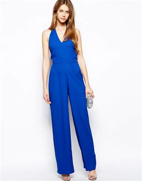 blue jumpsuit womens blue evening jumpsuits for buy evening jumpsuits