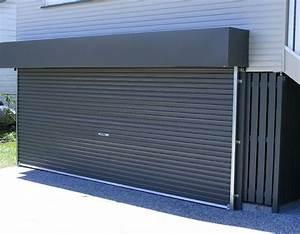 porte de garage ouverture enroulable budget maisoncom With porte de garage enroulable et porte maison