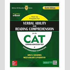 How To Prepare For Verbal Ability And Reading Comprehension For The Cat Paperback (english) 6th