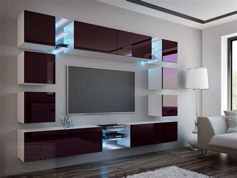 Besonderer wert sollte auf die qualität der ware gelegt werden, denn keine sterbensseele hat design: KAUFEXPERT - Wohnwand Edge Aubergine Hochglanz/Weiß ...