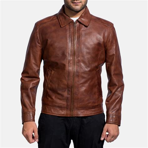 leather apparel mens inferno brown leather jacket