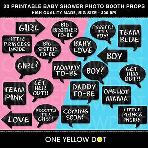 INSTANT DOWNLOAD Baby Shower Party Photo Booth by OneYellowDot