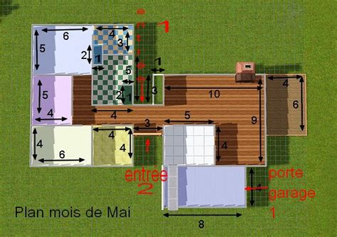 plan maison sims studio design gallery best design