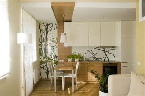 Einrichtung Kleiner Kuechemoderne Kleine Kueche Im Wohnzimmer 3 by Kleines Wohnzimmer Mit Offener K 252 Che Holz Creme