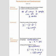 Permutations And Combinations  7th Grade Prealgebra  Mr Burnett