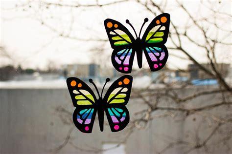 butterfly suncatchers allfreekidscraftscom