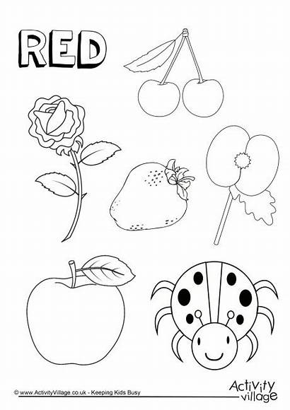 Coloring Pages Things Colouring Colour Worksheets Preschool