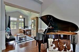 French Country Great Room With Grand Piano HGTV