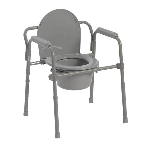 bedside commode chair medicare folding steel commode drive