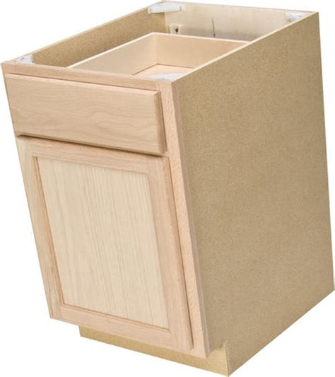 quality one 18 quot x 34 1 2 quot unfinished oak base cabinet with drawer at menards 174