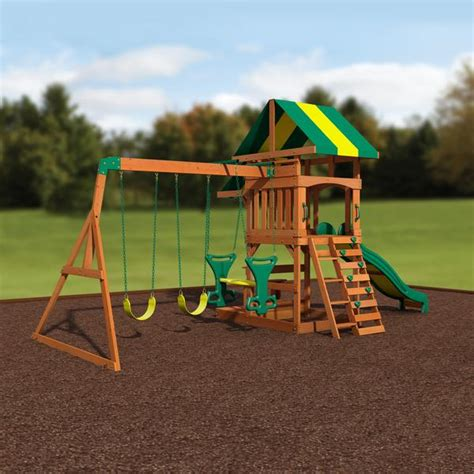 Backyard Discovery Independence Swing Set by Independence Wooden Swing Set