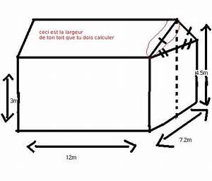 Calcul Surface Toiture 2 Pans : calcul de l 39 air d 39 un toit exercice de g om trie 436194 ~ Premium-room.com Idées de Décoration