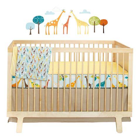 safari crib set skip hop giraffe safari crib bedding and accessories