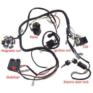 Carbide Go Kart Wire Diagram by Gy6 150cc Atv Go Kart Wire Harness Assembly Cdi Switch
