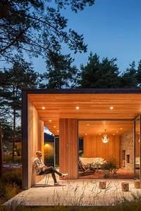 Terrasse Couverte  Bardage En Bois Ext U00e9rieur Et Chaise