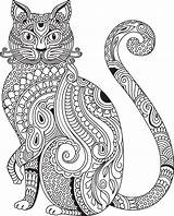 Coloring Cat Adult Mandala Printable Colouring Behance Animal Silhouette Drawing Elephant Bojanke Kaisercraft Visit Stencil sketch template