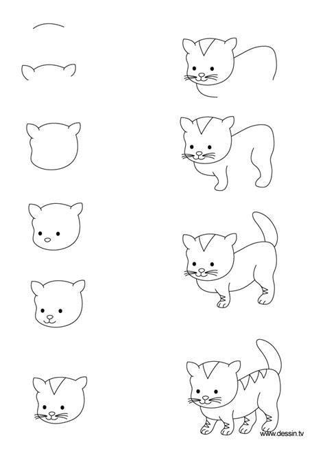 draw  cute cat step  kitten litle pups