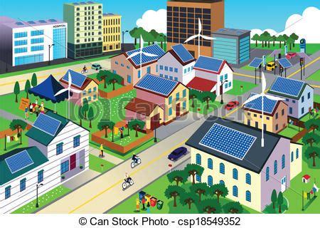 green environment friendly city scene  vector