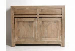 buffet bas hevea massif grise 2 portes 2 tiroirs With wonderful meuble en manguier massif 5 meuble tv en bois exotique gris