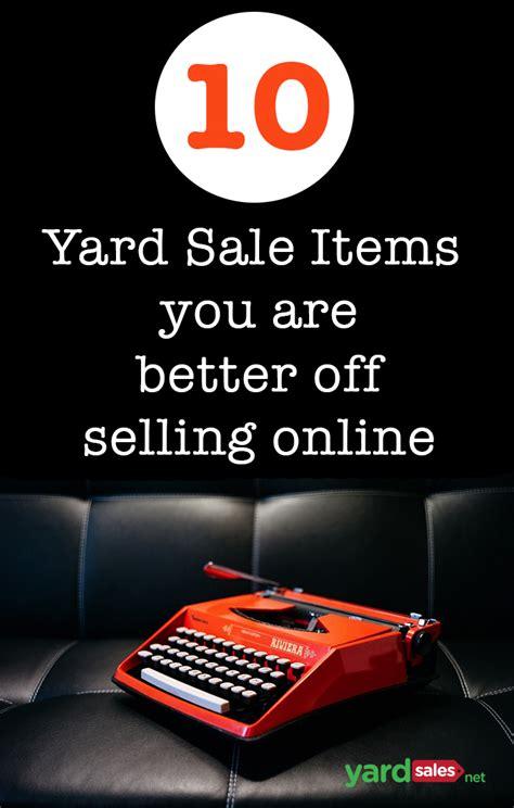 yard sale items      selling
