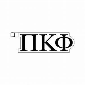 greek letters pi kappa phi plastic greek letter shaped With pi kappa phi letters