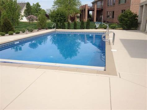 image result  colored brushed concrete pool deck