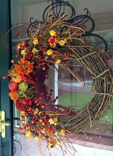 beautiful fall grapevine wreath pictures
