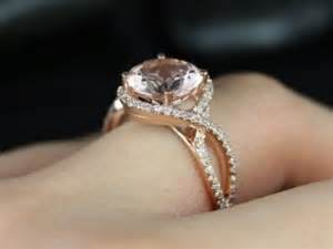 gold morganite engagement rings kendra 14kt gold morganite and diamonds halo twist engagement ring other metals and